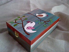 Krabičky - krabička s vtáčikmi - 340670