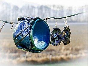 Sady šperkov - Vodný element - náramkové hodinky (sada) - 3407746