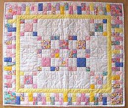 Úžitkový textil - Detská deka - ukážka vzoru - 340790