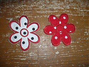 Materiál ručne robený - bodkovaný kvet ( nažehľovačka) - 3413154
