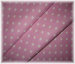 Textil - růžovofialová bodka - 3414120
