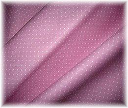 Textil - růžovofialová bodka-drobná - 3414127