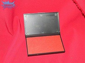 Farby-laky - Poduška pre razitka pečiatky červena - 3416741