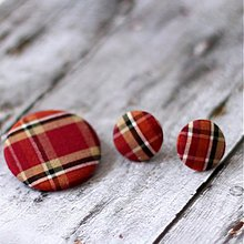 Sady šperkov - Náušnice a brošňa Škótske bordové - 3417959