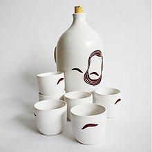 Dekorácie - set 6. pohárikov s fľaškou Ludevít H - 3424972