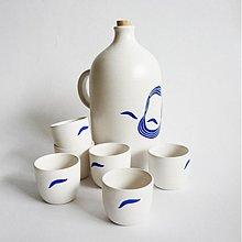 Nádoby - set 6. pohárikov s fľaškou Ludevít M - 3424980