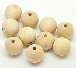 Korálky - Veľké drevené korálky 18mm - 3429756