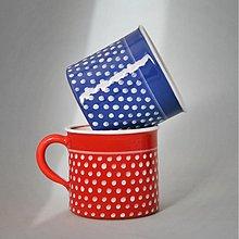 Nádoby - Kafáč puntík 10 červený a modrý PÁR 0,5 l - 3433722