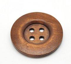 Galantéria - Drevený gombíček 3,5cm - 3434440