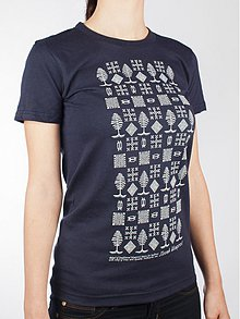 Tričká - Dámske tričko stromčekové tmavé - 3435319