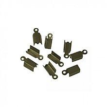 Komponenty - KON3961, KONCOVKA Plochá 12mm StaroBRONZ /10ks - 3437060