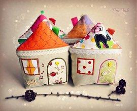 Dekorácie - Domčeky veselé (celoročné, zimné aj vianočné) - 3437929