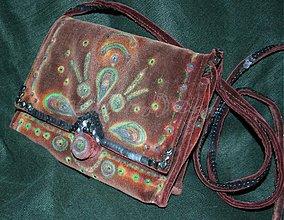 Kabelky - originálna sametová kabelka - 3441480