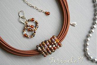 Sady šperkov - Náhrdelník + náušnice © Zlatem protkané ... - 3441756