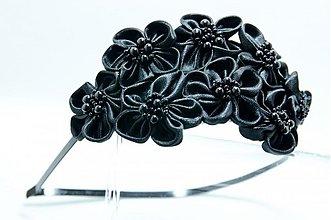 Ozdoby do vlasov - Čelenka Rozalia černá - 3442045