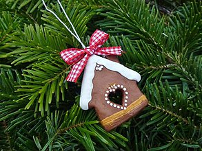 Dekorácie - Vianočná ozdoba medovníkový domček - 3443162