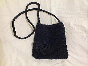 Kabelky - čierna pletená kabelka - 3443208