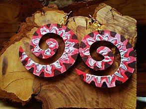 Náušnice - Obojstranné D náušnice - indiánky - 3443355