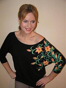 Tričká - Oranžovo-žlté Lily... - 3443450
