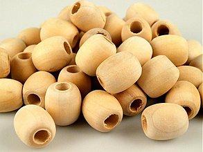Korálky - Korálka drevená 18x20mm - 3447785