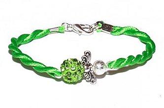 Náramky - zelený náramok anjeliček strážniček - 3451177