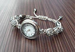 Náramky - Shamballa náramok s hodinkami - 3451426