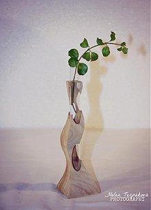 Dekorácie - Vázička(drevená modelka) - 3453200