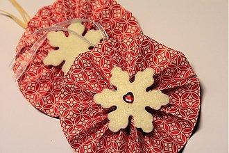 Papiernictvo - Menovka/dekorácia na darček - červené - 3454877