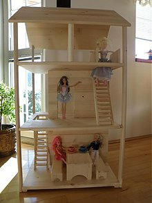 Hračky - Trojposchodový domček pre bábiky. - 3455856