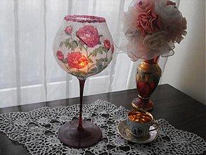 Svietidlá a sviečky - Mrazený svietnik - čaša - 3459632