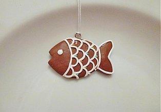 Dekorácie - Medovníková rybička na stromček - 3460148
