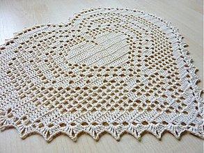Úžitkový textil - Filetové srdce, veľké - 3461647