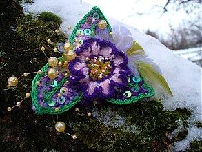 Brošne - Brošňa - Zlatá Violett - 3462421