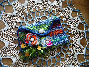 Taštičky - Taštička - Modrá je dobrá :) - 3462506