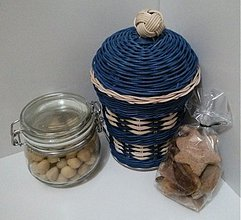 Košíky - Modrý s vrchnákom - 3464976