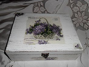 Krabičky - Dvojposchodová šperkovnica - fialka - 3465282