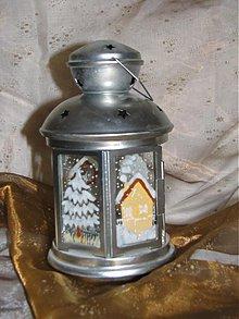 Svietidlá a sviečky - LAMPÁŠE A SVIETNIKY (strieborný zimný) - 3466514