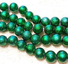 Korálky - Metalizované 10mm-10ks (zelená pastel) - 3466717