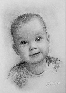 Obrazy - portrety detičiek na objednávku - 3469358