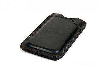 Na mobil - Kožené pouzdro na iPhone 5 černé - 3473755