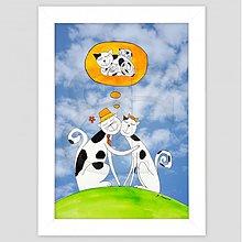 Obrazy - Plánovanie rodiny maľovaný obrázok pre deti - 3474895