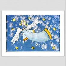 Obrazy - Anjelka maľovaný obrázok pre dieťa - 3474965