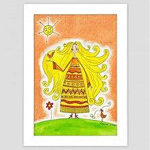 Obrazy - Zlatovláska maľovaný obrázok obraz pre deti - 3475344