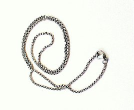 Komponenty - chirurgická oceľ,retiazka s karabínkou, 1 ks - 3475928