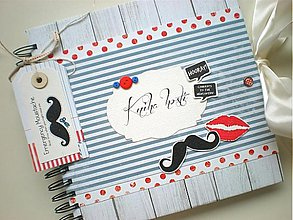 Papiernictvo - Kniha hostí Moustache & Lips - 3478414