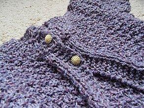 Detské oblečenie - svetrík s krátkym rukávom fialkový - 3479444