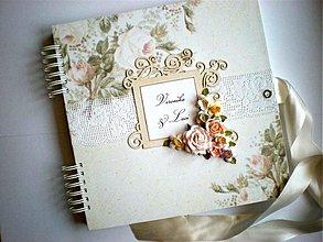 Papiernictvo - Romantický svadobný album 30 x 30 cm - 3479623