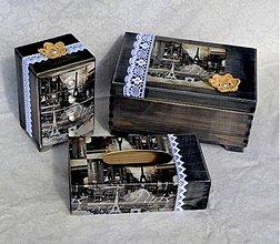 Dekorácie - Paris vintage sada - 3479700