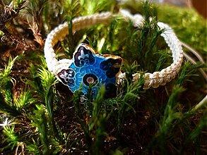 Náramky - Shamballa s modrou hviezdičkou - 3480032