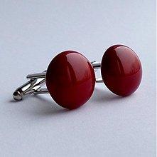 Šperky - manžetové gombíky - dark red -50% - 3481452